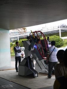 大型ロボット搭乗体験の写真