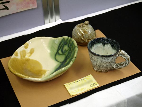 Fさんの陶芸作品の写真
